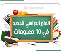 إنفوجراف| أبرز 10 معلومات عن العام الدراسي الجديد