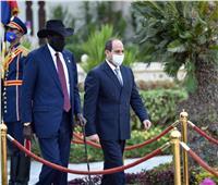 الرئيس السيسي يشيد بالشراكة الاستراتيجية مع جنوب السودان