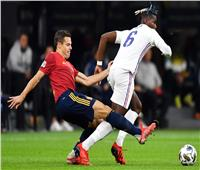 دوري الأمم الأوروبية  شوط أول سلبي بين إسبانيا وفرنسا