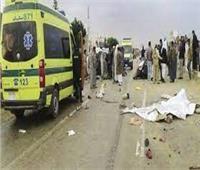 إصابة 9 عمال في حادث بمدخل طريق الواحات بالمنيا
