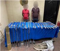 حبس شخصين ضبط بحوزتهم أسلحة بيضاء بالجمالية