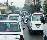 كثافات مرورية في الطرق الرئيسية والمحاور بالقليوبية