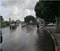 أمطار غزيرة تضرب الإسكندرية