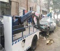 رفع 48 سيارة ودراجة نارية متهالكة من الشوارع والميادين