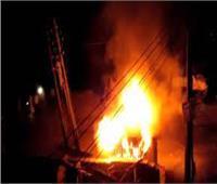السيطرة على حريق نشب داخل محول كهرباء بحلوان
