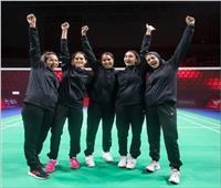 سيدات الريشة الطائرة يحققن أول فوزبتاريخ مصر في بطولة العالم