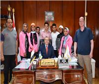 تكريم طلاب جامعة السادات الفائزين في المهرجان الرياضي للأسر الطلابية