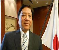 تقليد السفير الياباني السابق بالقاهرة وسام الجمهورية من الطبقة الأولى