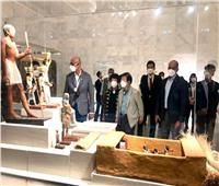 بعد الأهرامات.. رئيس الجمعية الوطنية لكوريا الجنوبية في متحف الحضارة  صور