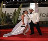 أحمد داود على السجادة الحمراء بمهرجان الجونة السينمائي