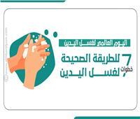 إنفوجراف| في اليوم العالمي لغسل اليدين..7 خطوات للطريقة الصحيحة