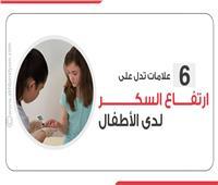إنفوجراف| 6 علامات تدل على ارتفاع السكر لدى الأطفال