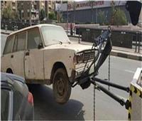 خلال 24 ساعة| رفع 38 سيارة ودراجة نارية متهالكة من الشوارع والميادين