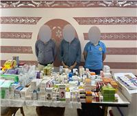 ضبط مخزن أدوية مخدرة ومهربة جمركيًا بالساحل
