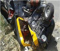 مصرع وإصابة 7 أشخاص في حادث والسيطرة علي حريق في المنيا