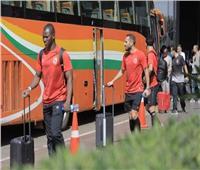 الأهلي يصل ملعب «سيني كونتشي» لخوض مباراة الحرس الوطني