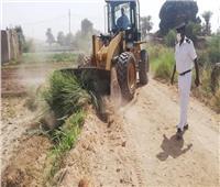 إزالة التعديات على الترع والمجاري المائيةبمركز اسنا