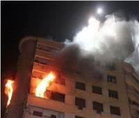 المعمل الجنائي يفحص آثار حريق شقة بالطالبية