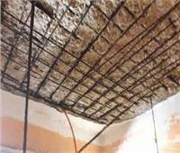 المعاينة الأولية تكشف تسبب الأحمال الزائدة في انهيار سقف منزل ببنها