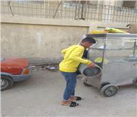 حملة لرفع الإشغالات من أمام مدارس سمالوط بالمنيا