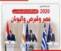 إنفوجراف| أبرز ما حدث في القمة الثلاثية السابقة بين مصر وقبرص واليونان