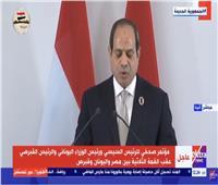 الرئيس السيسي: نجدد دعمنا للمساعدة في إيجاد حل شامل للقضية القبرصية