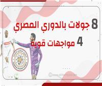 انفوجراف | 8 جولات بالدوري المصري و4 مواجهات قوية