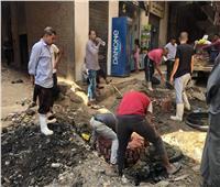 حملة موسعة لتطهير شبكات الصرف الصحي بشوارع بشتيل في «الجيزة» | صور