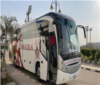 حافلة الزمالك تصل لاستاد الجيش ببرج العرب استعدادا لمواجهة توسكر