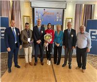 تكريم قبرصي للبطلة الذهبية فريال أشرف