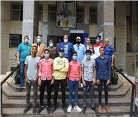 مدير تعليم المنوفية يلتقي فريق كرة القدم الخماسية للطلاب الصم
