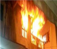 إصابة سيدة في حريق شقة بفيصل