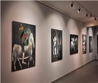 «فؤاد مغربل وعبلة» يفتتحان معرض الفنان زعيم أحمد بـ«جاليري ضي»
