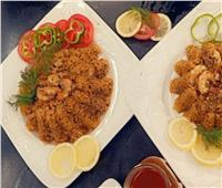 لعشاق المأكولات البحرية   أرز صيادية بالجمبري