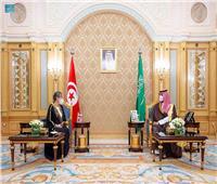 ولي العهد السعودي يلتقي رئيسة الحكومة التونسية