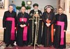 البابا تواضروس يستقبل وفد الفاتيكان للتعزية في شهداء الكنيستين