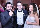صور.. تامر حسني بصحبة الفنانين بحفل زفاف «محمد ونورهان»