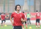 أحمد حجازى مدافع الأهلى يؤدى جلسة تأهيل وعلاج طبيعى