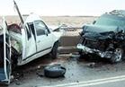 مصرع وإصابة 4 أشخاص في تصادم سيارتين بالمنيا
