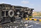 انقلاب شاحنة محملة بـ 48 طن ذرة بالفيوم