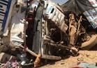 إصابة 9 في حادث تصادم 5 سيارات بطريق السخنة
