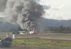مصرع 10 أشخاص في تحطم طائرة عسكرية بالكونغو الديمقراطية