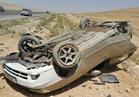 انقلاب سيارة ملاكي بمحور المشير طنطاوي.. وتعطل أتوبيس أعلى كوبري التونسي