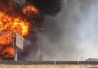 السيطرة على حريق بخط غاز بقرية صفط تراب بالغربية