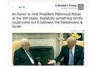 ترامب يحذف تغريدة الترحيب بالرئيس الفلسطيني