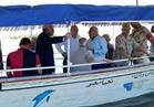 »محلب« يتابع إزالة التعديات على بحيرة المنزلة بحضور محافظي دمياط وبورسعيد