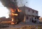 السيطرة على حريق نشب في 8 منازل بسوهاج