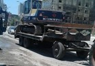 كسر بخط مياه الصرف الصحي بطريق السيالة في دمياط