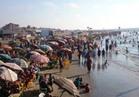 """شواطئ رأس البر """"كاملة العدد"""" في ثالث أيام العيد"""