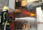إخماد حريق نشب في اثنين من المحلات التجارية بالسويس